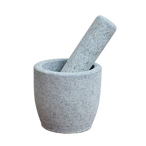FxsD Gebrauchsgüter für die Küche Stößel und Mörser Set, Naturbluestone, Haushalt Steinmörtel, Knoblauch-Topf, Stampfe Topf, Würze, Boden, gebürstete Oberfläche to Make Old Texture ## (Color : A)