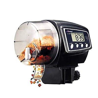 Lychee Automatischer Futterautomat Fische Futterautomat mit LCD Display und Zeitschaltuhr für Aquarium (AF-2005D)