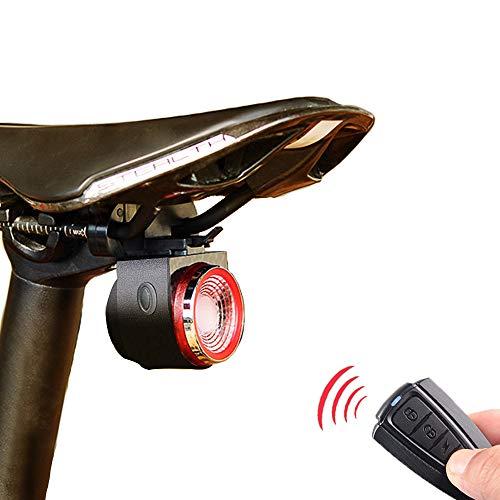 XIAOKOA Fanale Posteriore Allarme Intelligente,USB Fanali Posteriori di Ricarica,Bicicletta di Ricerca del Telecomando Senza Fili,con Telecomando e Funzione Impermeabile