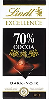Lindt Excellence Dark Chocolate 70% Cocoa, 100 gm (Pack of 1)