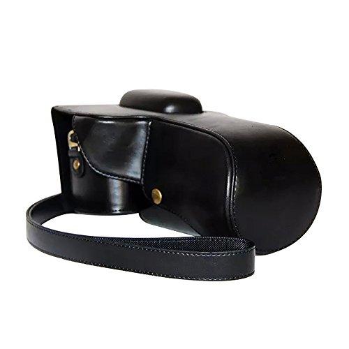 PU lederen cameratassen hoes met statief ontwerp voor Nikon D5300/ D5200/ D5100 (zwart)
