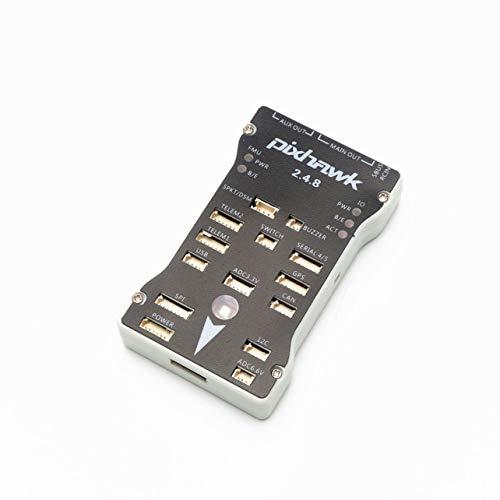 Pixhawk 2.4.8 32 Bit Controlador de vuelo con zumbador de interruptor de seguridad Expandir módulo (Color: gris y negro)