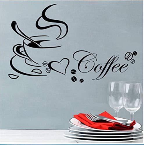 supmsds Abnehmbare Wandaufkleber Wohnkultur Kaffee Wandkunst Küche Wandtattoo Vinyl Wandbild 72X117 cm