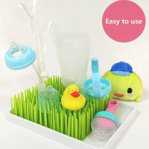 Baby Bottle Dryer Baby Bottle Dish Grass Lawn Drying Rack For Baby Dishes...