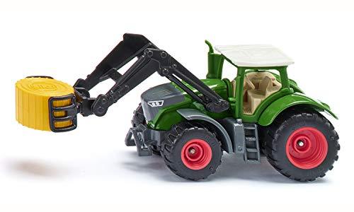 siku 1539, Fendt 1050 Vario Traktor, Metall/Kunststoff, Grün, Ballenzange und abnehmbare Kabine