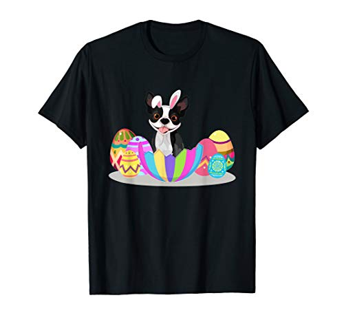 Cute Easter Gift Idea For Boston Terrier Lovers With Easter T-Shirt