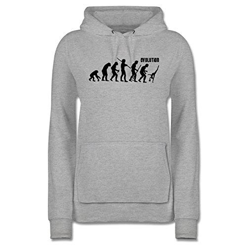 Evolution - Gymnastik Evolution - M - Grau meliert - JH001F - Damen Hoodie und Kapuzenpullover für Frauen