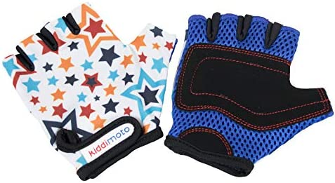 Kiddimoto Kids Fingerless Cycling Gloves for Girls Boys Bicycle Balance Bike Scooter and Skateboard product image