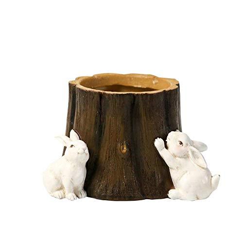 ZGQA-GQA Decorazioni di Arte del mestiere Penna Pastorale Contenitore Decorazione Studio del Desktop Titolare Decorazione dell'ufficio Coniglio