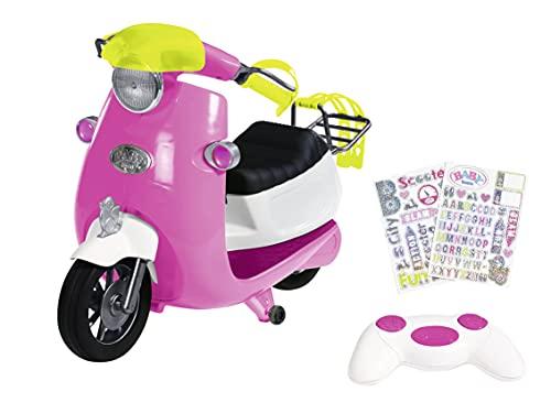 Zapf Creation 830192 BABY born City RC Scooter - ferngesteuerter Puppenroller mit Lichtfunktion