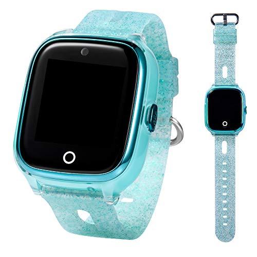 ON WATCH Smartwatch Kinder GPS + WiFi + Lbs + Agps mit SIM Karte, Kamera, wecker, chatten, Aktivitätstracker und vieles mehr Uhr mädchen um Ihre Kinder im Auge zu behalten (Grün)