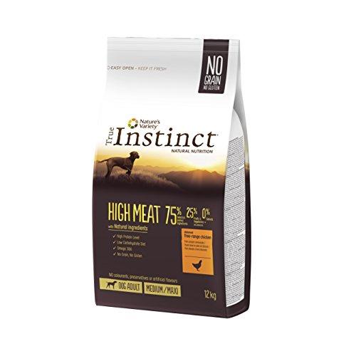 True Instinct High Meat Adult - Nature's Variety - Croquettes pour Chien Adulte avec Poulet Désossée - 12kg