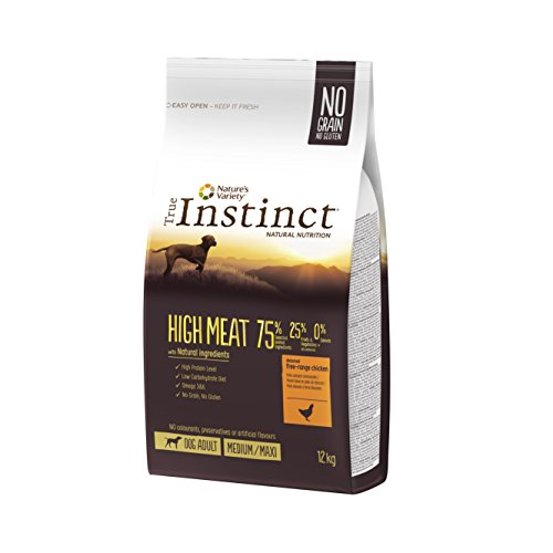True Instinct High Meat Adult -Nature's Variety - Pienso para Perros Medium-Maxi Adulto con Pollo - 12 kg