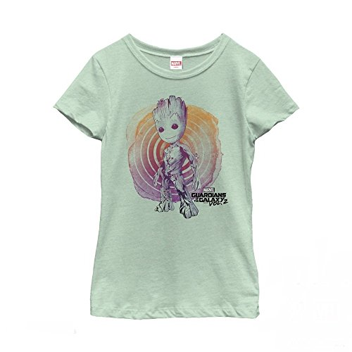 Marvel Guardians of The Galaxy Vol. 2 Groot Swirl Girls Graphic T Shirt Mint