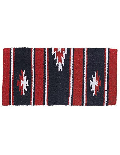 Tough 1 Sierra Miniatur-Satteldecke aus Wolle, 35-7845-332-0, rot/schwarz