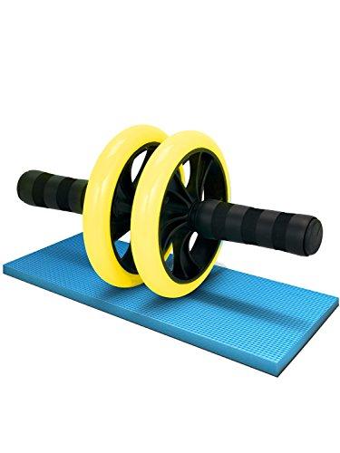 LICLI リクライ LICLI 腹筋ローラー 簡単 筋トレ コンパクト 健康器具 取扱説明書 製品保証あり 静音 高耐久性 膝クッション付き お腹 アブローラー 4色 イエロー
