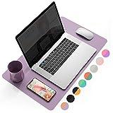 YSAGi Schreibtischunterlage, Tischunterlage, 60 * 35 cm PU-Leder Laptop Tischunterlage, Ultradünnes Schreibunterlage zweiseitig nutzbar, ideal für Büro und Zuhause(Dunkelviolett, 60 * 35 cm)