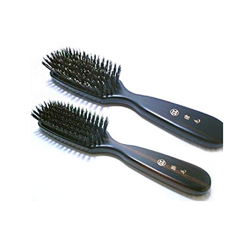 主要なスポーツ偏差江戸屋 猪毛ヘアブラシ7行植え 「創業300年江戸屋謹製」 「標準以上の髪ボリューム、ロングヘアの方向け」 「強めの頭皮刺激(頭皮マッサージ効果)」