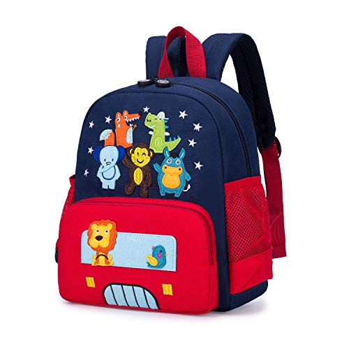 willikiva Cute Zoo Little 3d Backpack Kids Backpack for Boys and Girls Toddler Backpack Waterproof Preschool Safety Harness Leash (Red)