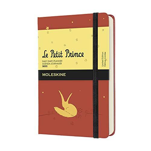Moleskine Piccolo Principe, Volpe - Agenda Giornaliera 12 Mesi 2022, Copertina Rigida, Formato Pocket 9 x 14 cm, Arancione (Arancio)