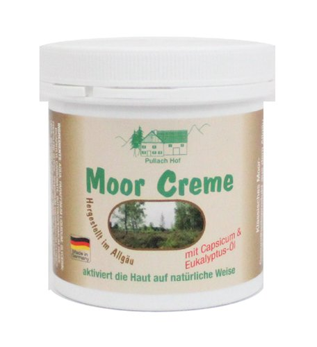 Moor Creme 250ml klassisches Moor-Gesundheitsprodukt zur besonderen Pflege von Rücken, Nacken und empfindlicher Haut, mit Capsium & Eukalyptus-Öl