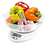 LTGJJ Escala de Alimentos Digitales Cocinar de Peso Digital Escala de Peso de la báscula de Alimentos Cuenco con Gramos de Onza de Alta precisión Tare Auto Apagado Función Multifuncional