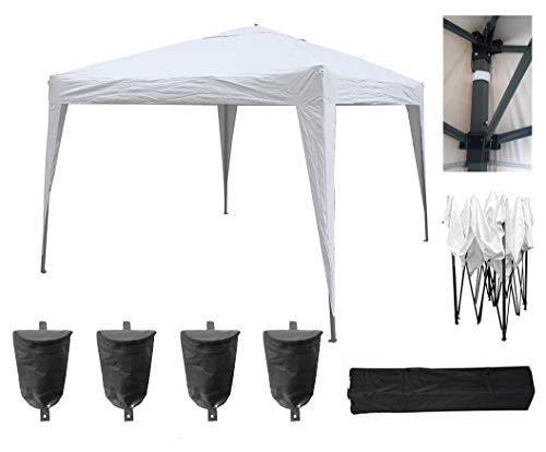 MCC - 3x3m Pop-up Gazebo Waterproof Outdoor Garden Marquee Canopy (NS) (White)