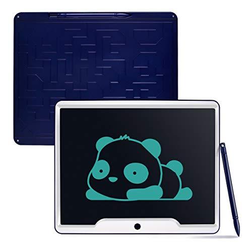 Funkprofi 15 Zoll LCD Schreibtafel, Digitale Schreibplatte Papierlos Elektronisches Writing Tablet mit Anti-Clearance Funktion Geschenk für Kinder (15 Inch)