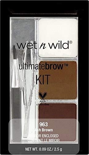 Wet N Wild Augenbrauenfarbe - Ultimatebrow™Kit Ash Brown / 6-teiliges Augenbrauen-Set, Ash Brown, 1er Pack, 2,5g