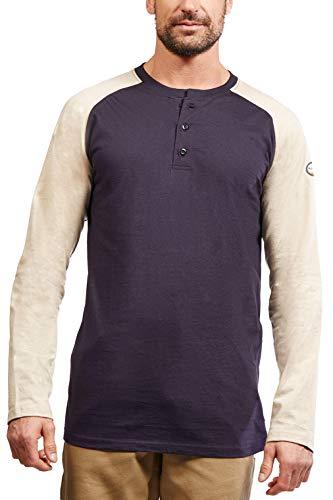 Rasco FR Khaki/Navy Two Tone Henley T-Shirt