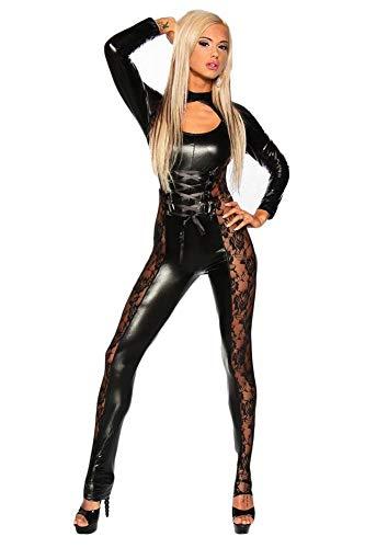 Catwoman - Mono de látex para mujer, de PVC, sexy, lencería