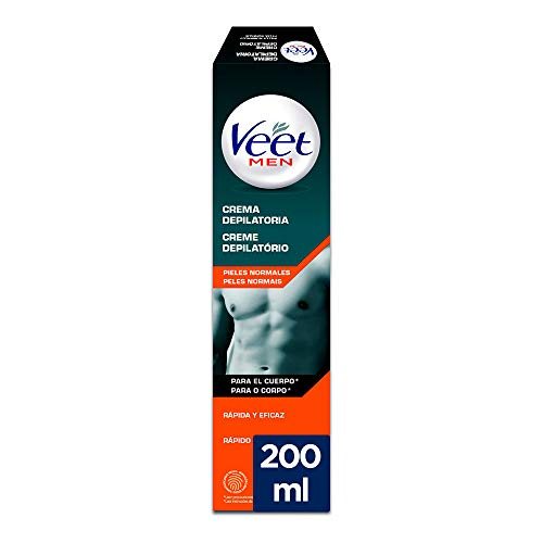 Veet for Men Crema Depilatoria Masculina para el Cuerpo, Piel Normal, 200 ml