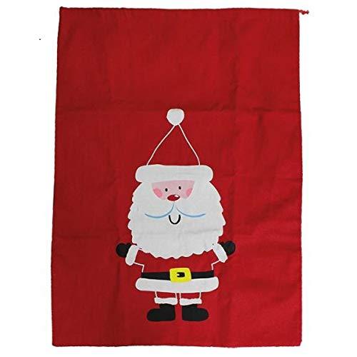 IDN XL Navidad Saco Papá Noel Saco Regalo Saco Papá Noel Saco 76x 55cm