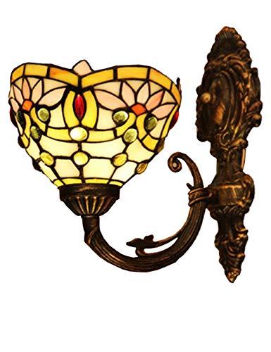 DALUXE Luz de Pared LED Interior, Deróduras, Sombra de Cristal manchada, Estilo Minimalista Nórdico, Café Bar Sala de Estar Noche Engranaje Baño Espejo Iluminación Frente