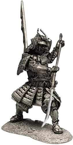 Estatua de la Escultura del Guerrero Estatua de la Escultura del Guerrero japonés Samurai japonés Modelo Estatua Metal Crafts Desktop Collection