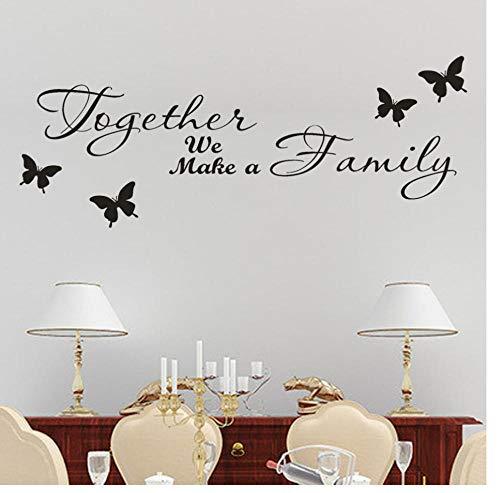 Mooie stickers laten we een gezin maken verwijderbare Art Vinyl muurschildering familiekamer 65 cm X 25 cm Zkpyy