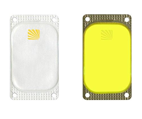 Cyalume - Caja de 25 balizas luminosas adhesivas rectangulares VisiPad, 10 horas, color amarillo