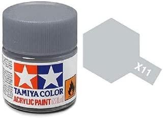 Tamiya Models X-11 Mini Acrylic Paint, Chrome Silver