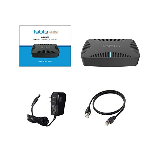 Tablo TQNS4B-01-CN Quad Over-The-air [OTA] Digital Video Recorder [DVR] for Cord Cutters - with WiFi, Live TV Streaming,