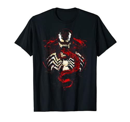 Marvel Venom Splatter Tongue Cut-Out Camiseta