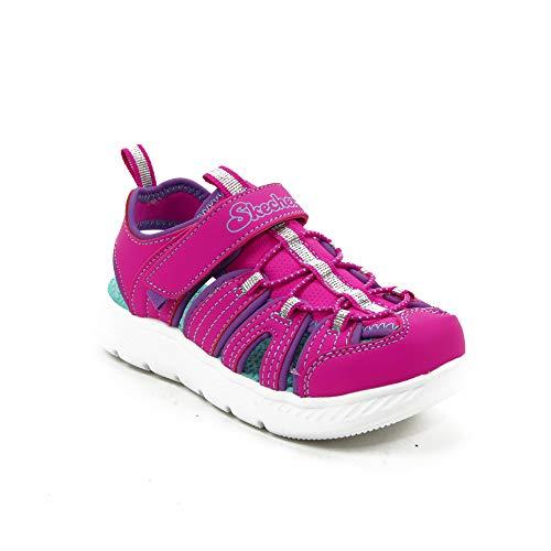 Skechers C-Flex Sandale 2.0, offene Spitze für Mädchen, Rosa, 24 EU