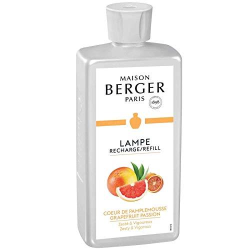 Lampe Berger 115007 Recharge parfum de maison pour lampe à parfum Cœur de Pamplemousse 500ml