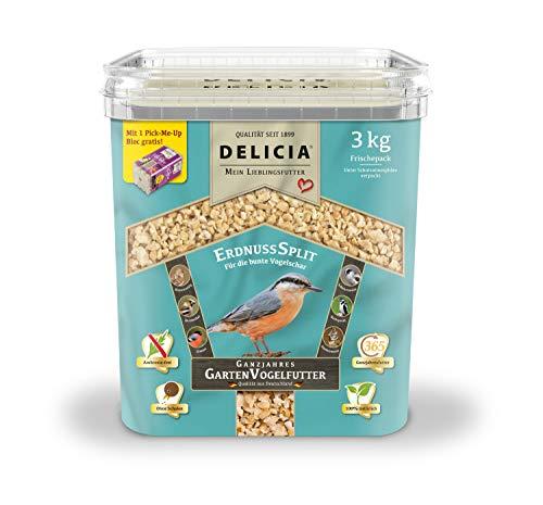 Delicia Erdnusssplitt ganzjahres Garten Vogelfutter 3 kg