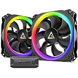 Antec 140mm RGB Case Fan, RGB PC Fans, Addressable RGB Fans, Prizm Series, 2 Pack with Controller Hub
