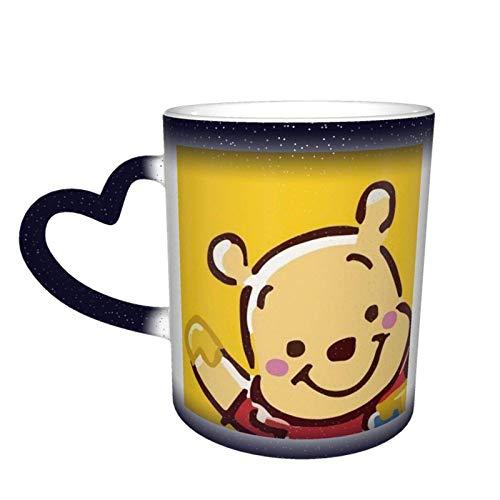 Winnie The Pooh - Tazas de café con diseño de Winnie The Pooh, color azul