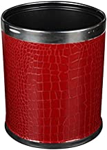 ZXHDND Double-layer Round Paint Trash Can (Color : Gold)