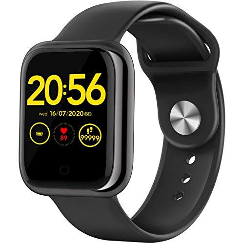 Reloj Inteligente Individual De 1.3 ', Rastreador De Ejercicios Táctil Con Monitor De Actividad De Frecuencia Cardíaca, Cronómetro Con Podómetro De Calorías De Alerta De Mensajes,Para Iphone Android