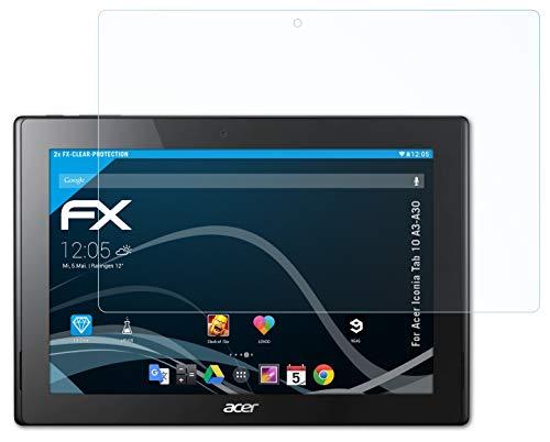 atFolix Schutzfolie kompatibel mit Acer Iconia Tab 10 A3-A30 Folie, ultraklare FX Bildschirmschutzfolie (2X)