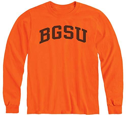 Ivysport Bowling Green State University BGSU Falcons Long Sleeve Adult Unisex T-Shirt, Classic, Orange, Large