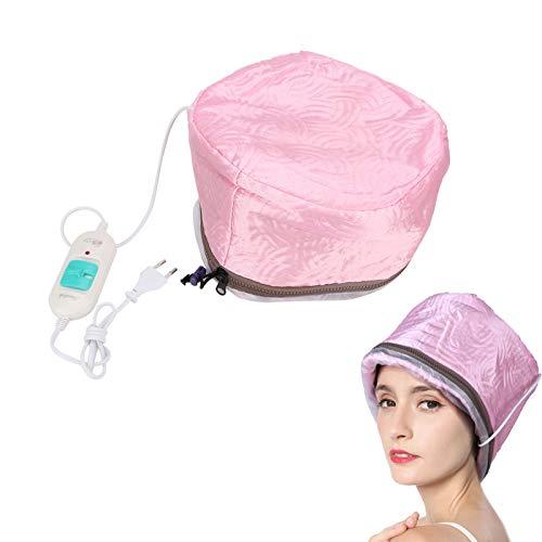 Gorro térmico para el cabello con vapor térmico, control de temperatura desmontable...